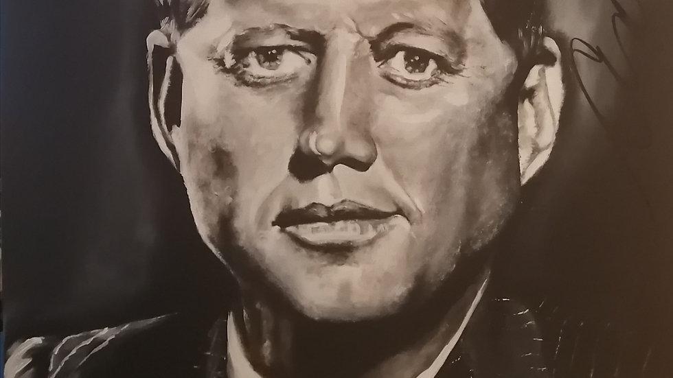 Acrylique sur toile, JFK
