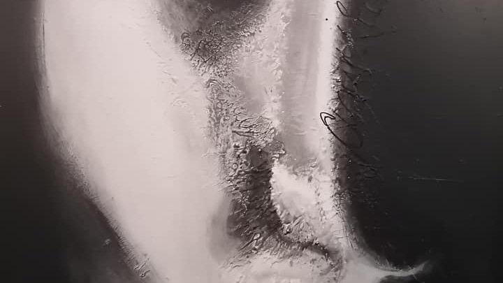 Acrylique sur bois , Blk and Who 2