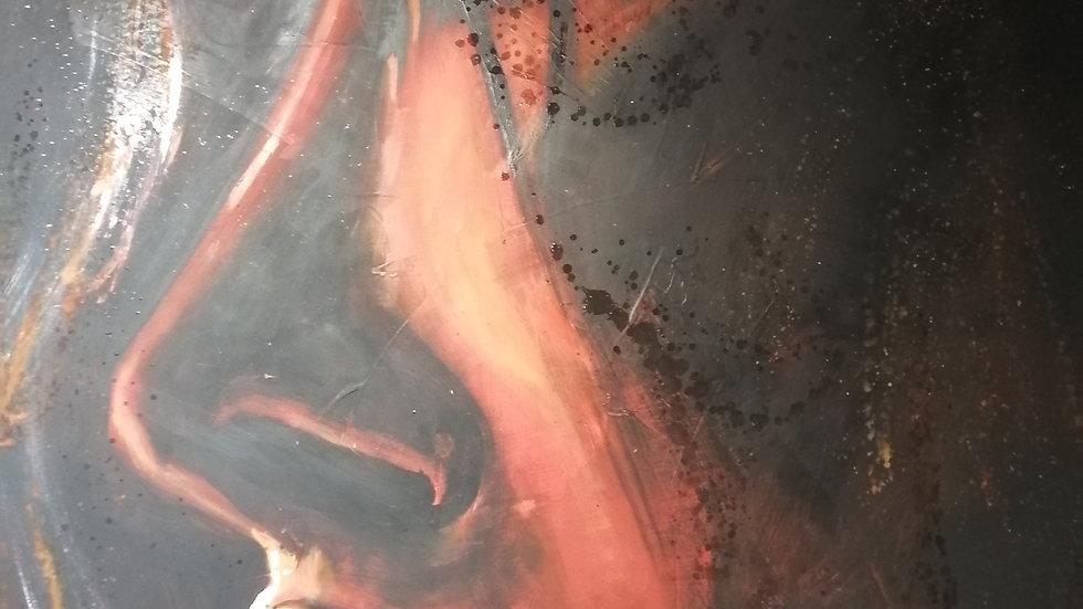 Acrylique sur bois , Fire