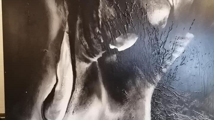 Acrylique sur bois , Blk and Wht 6