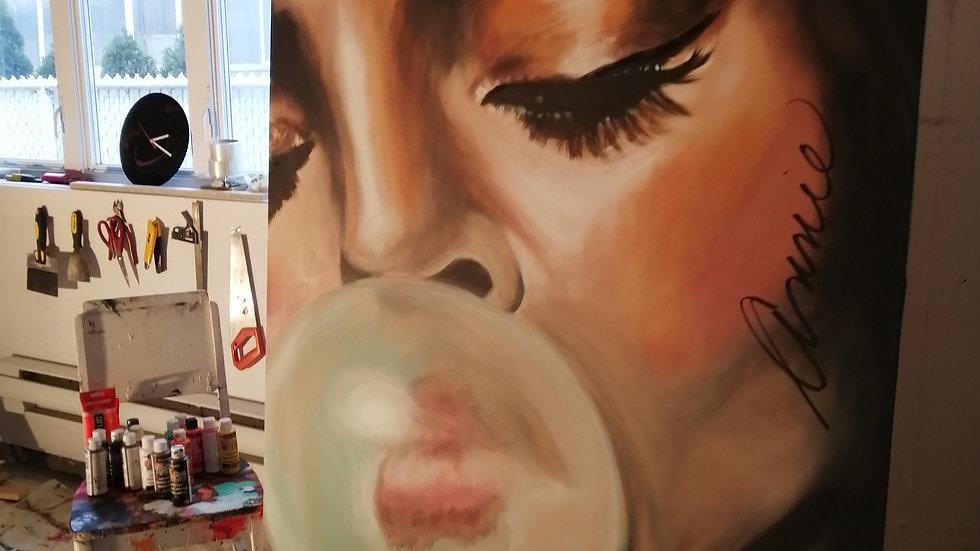 Acrylique sur toile , Bubble Gum