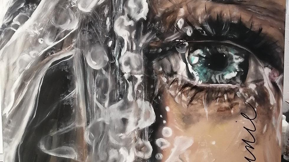 Acrylique sur toile , Frost