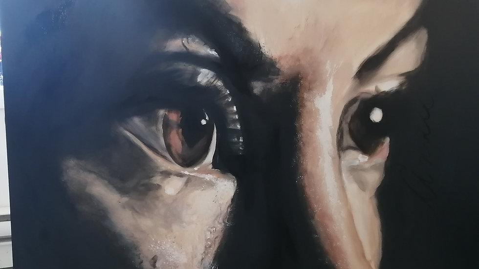 Acrylique sur toile , Vision