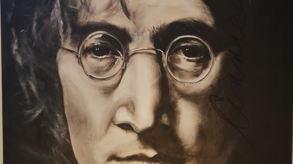 Acrylique sur bois , John Lennon
