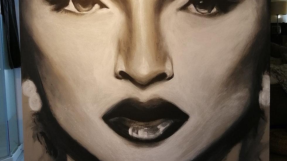 Acrylique sur toile, Madonna