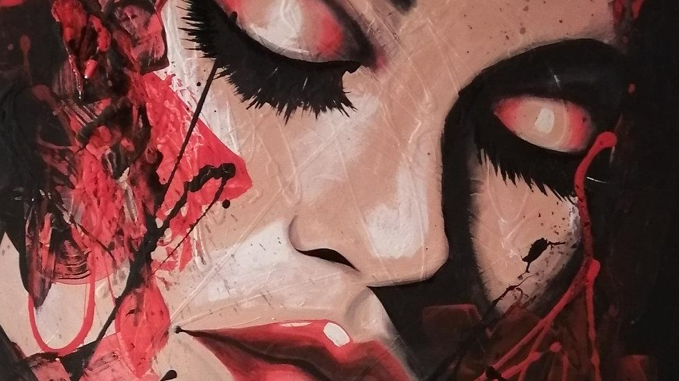 Acrylique sur toile , Showgirl