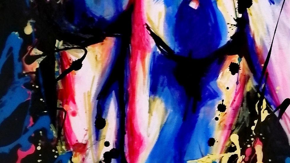 Acrylique sur toile , Yulia