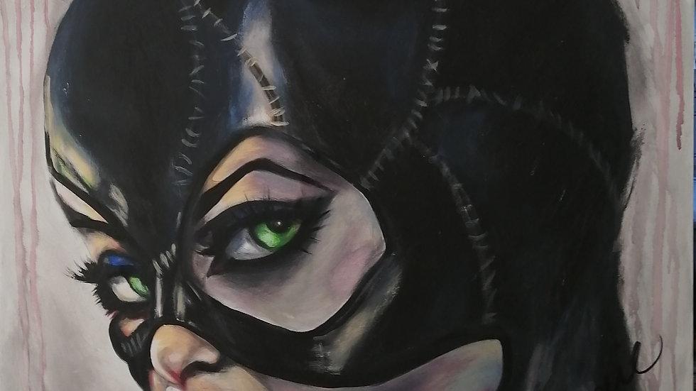 Acrylique sur toile , Kat Woman