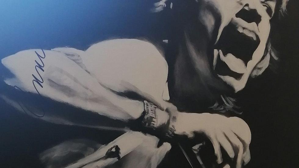 Acrylique sur bois, Jagger