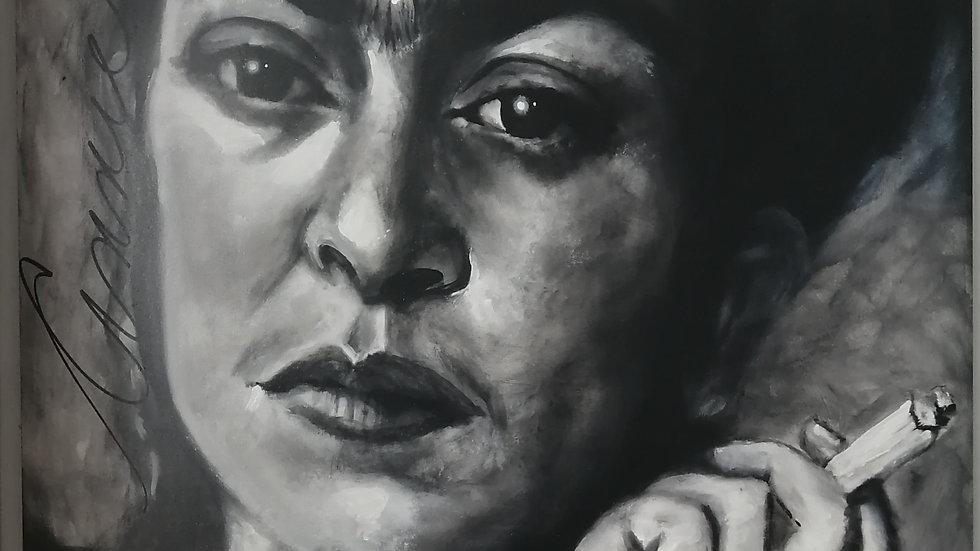 Acrylique sur bois, Frida