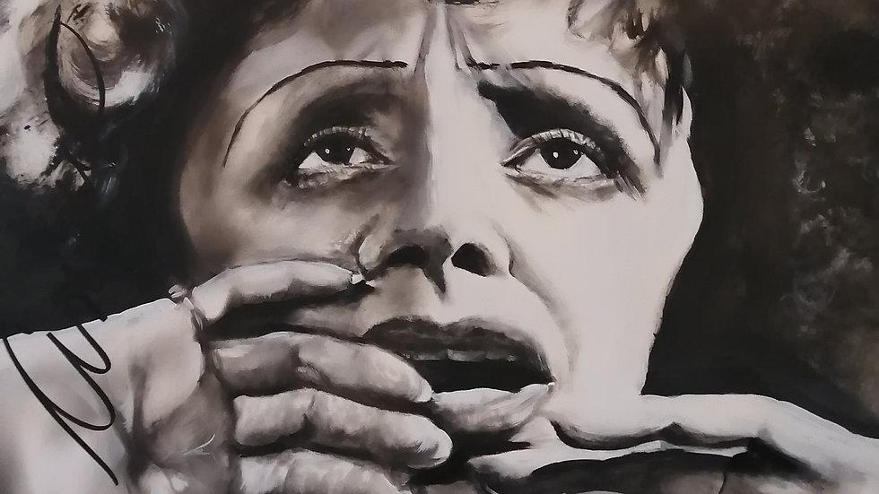 Acrylique sur toile, Édith Piaf