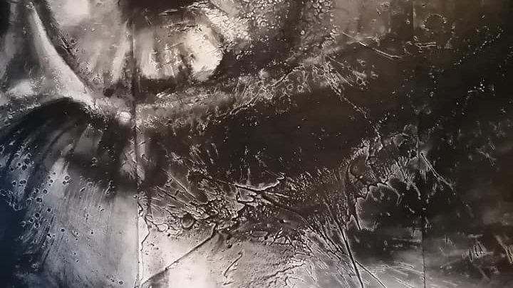 Acrylique sur bois , Blk and Wht 9