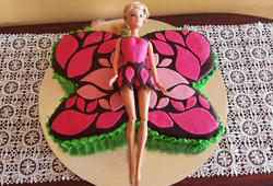 Butterfly Barbie Cake