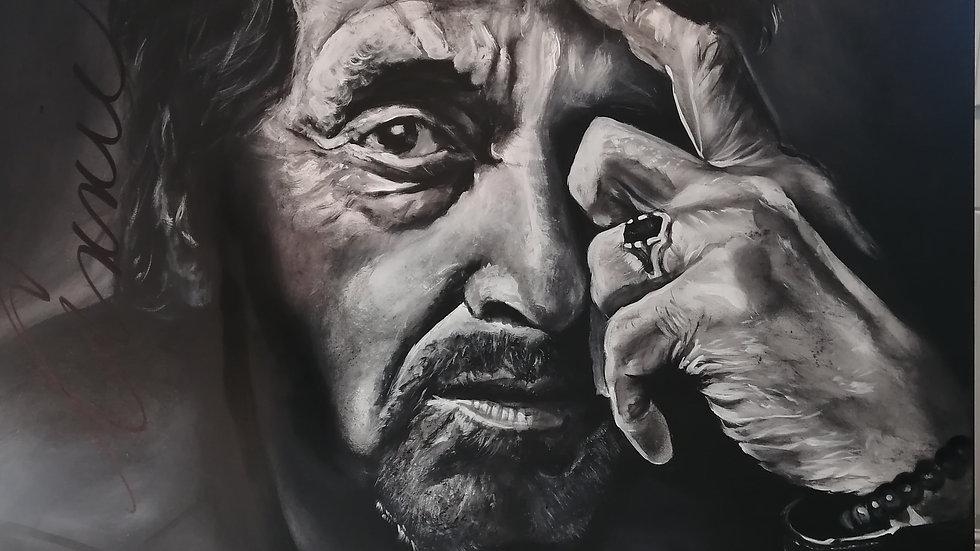 Acrylique sur toile, Al Pacino