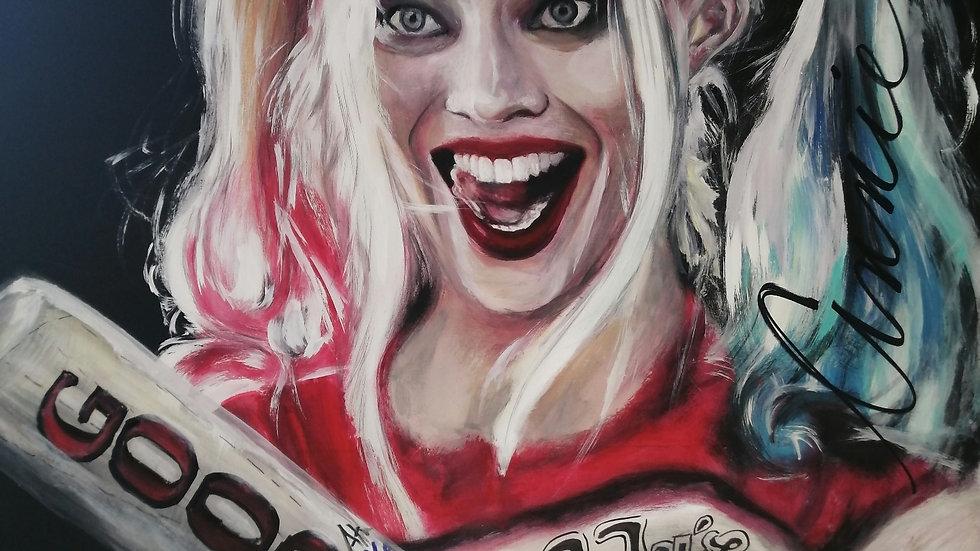 Acrylique sur bois, Crazy Quinn