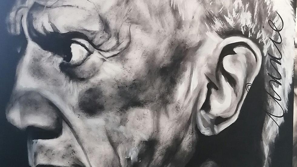 Acrylique sur bois, Picasso