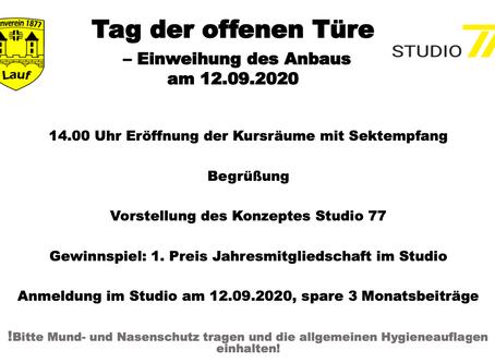 Eröffnung Hallenanbau am 12.09.20