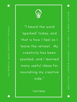 Mindful Muse 2018 Larrissa Vinge quote