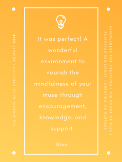 Mindful Muse 2019 quote - Gina