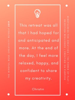 Mindful Muse 2019 quote - Christin