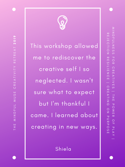 Mindful Muse 2019 quote - Shiela