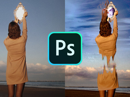 Photoshop Glitchy Effect - Body Separation Technique