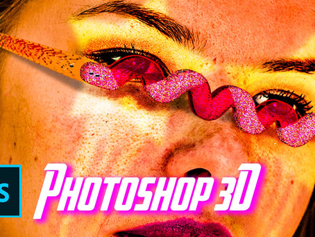 How to use Photoshop 3D effects and create this realistic sunglasses? - Tutorial