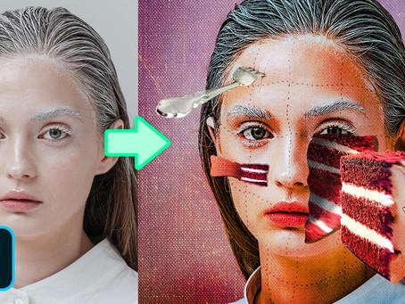 Transforming Portrait Into A Realistic Cake Photoshop Manipulation