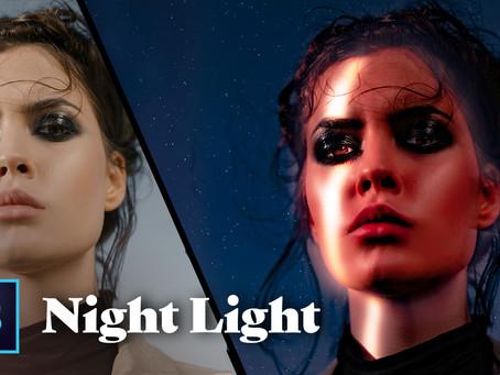 Photoshop Light Beam Effect on Face