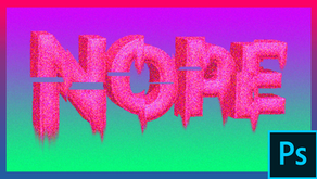 Photoshop Tutorial : create 3D Text with Glitch