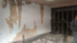 walls after plaster removed
