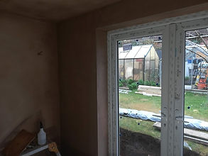 plastering done