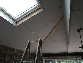 ceiling been plasterboard