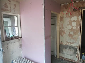 Room before plaster