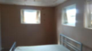 Bedroom walls skimmed