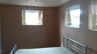 Bedroom walls skimmed