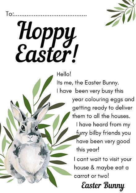 Surf Swim - Bush Easter Bunny Letter .jp