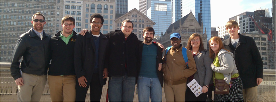 """Members of MORESAX in Chicago at the Art Institute following a great meal at """"Russian Tea Time"""""""