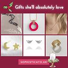 Social media artwork for Sophisticato.uk - showing jewellery