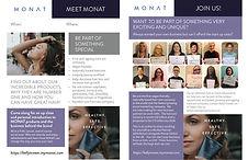 Brochure for Monat Makeup Brand