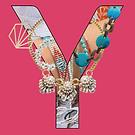Social Media Artwork - a Y with jewellery inside