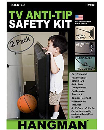 Baby proofing Vancouver - TV Anti-Tip Safety Kit installation vancouver.