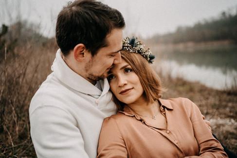 Verlobungsshooting am See