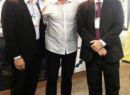 Comitiva do Rio de Janeiro recebe o governador Renato Casagrande (ES) na Vitória Stone Fair...