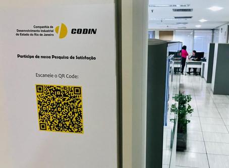 Novidade na CODIN-2020: pesquisa de Satisfação via QRCode...