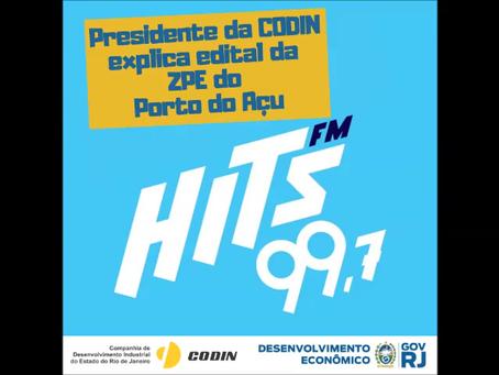 Entrevista à rádio Hits FM...