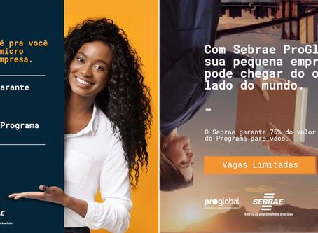 Com Sebrae ProGlobal sua pequena Empresa pode chegar do outro lado do mundo...
