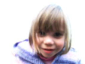 Yound girl with autism smiling