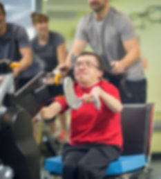 Man with  disability at the gym