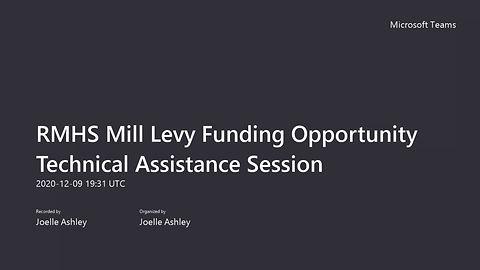 Technical Assistance Session Dec. 9, 2020